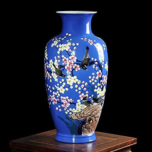 ZYG222 Moderne keramische porseleinen vaas handgeschilderde eucalyptus design vaas woonkamer