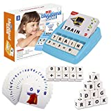 Flash Cards Letter Spelling Game for Toddlers 2-8 Years, Sight Words Alphabet Math Board Game...