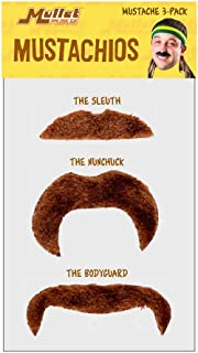 Mullet On The Go Mustachio 3-Pack Brown