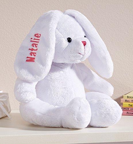 Personalized White Plush Bunny -Customized Stuffed Animal Children...