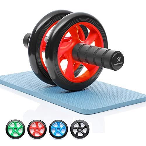 BODYMATE AB Roller Classic, Rueda Abdominal para reforzar la Musculatura del Core, Aparato de Fitness para casa, Rodillo Abdominal, Incl. Almohadilla para Rodillas, 28 x 16 cm (L x Ø)