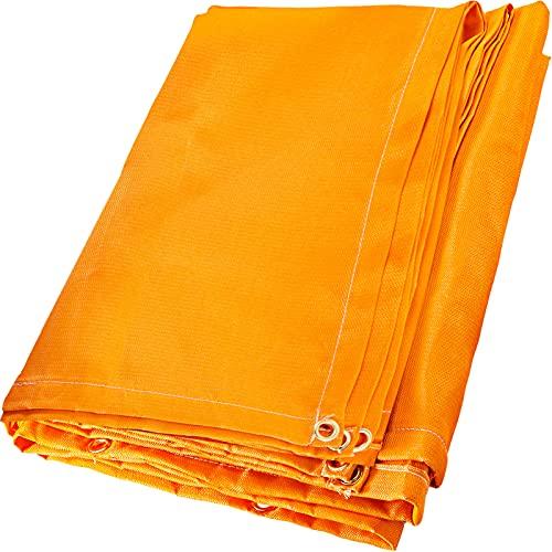 Mophorn 10 x 10 Ft Welding Blanket Orange Fiberglass Blanket Portable Fiberglass Fire Retardant Blanket Welding Mat Welding Fireproof Thermal Resistant Insulation With Carry Bag