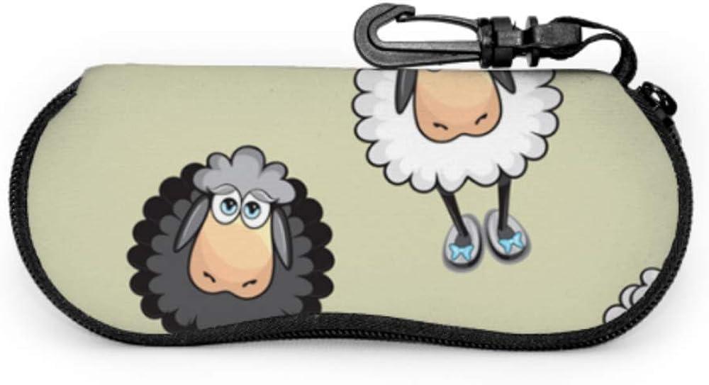 Cartoon Cute Sheep Eyeglasses Case Outdoor Glasses Case Light Portable Neoprene Zipper Soft Case Men S Eyeglass Case