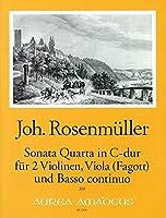 ROSENMULLER J. - Sonata nコ 4 en Do Mayor para 2 Violines, Viola (Fagot) y BC (Patitura y Partes)