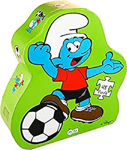 Los Pitufos - Puzzle silueta Pitufo futbolista (Barbo Toys 8227) (BASE TOYS)