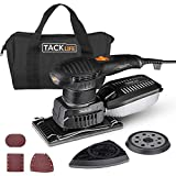 TACKLIFE Multi-Function Sander, 3 in 1 Electric Eccentric Sander with 15 Sands Papers, 6 Speed ??Variable 7000-12000 RPM Orbital Sander, Efficient Dust Collection System | MDS01B