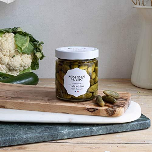 Cornichons Fins • Maison Marc • Cornichons 100 % français • Sans herbicide, sans insecticide, sans conservateur • Made in France