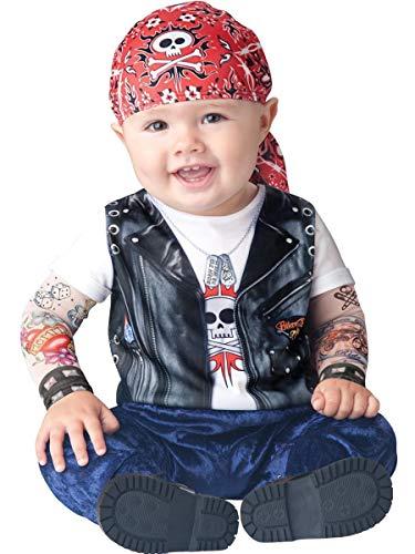 Born to Be Wild - Rocker Babykostüm - 6-12 Monate