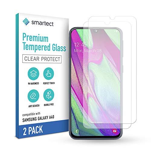 smartect Pellicola Protettiva per Samsung Galaxy A40 [2 Pezzi] - 9H Vetro Temperato Proteggi Schermo - Design Ultra Sottile - Applicazione Anti-Bolle - Anti-Impronte