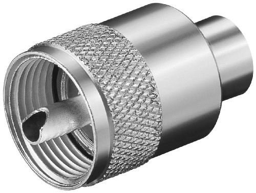 Unbekannt 10 Stück PL 259 UHF M Solder RG 58/U; UHF-Stecker für max. 5,3 mm Kabel; RG 58/U