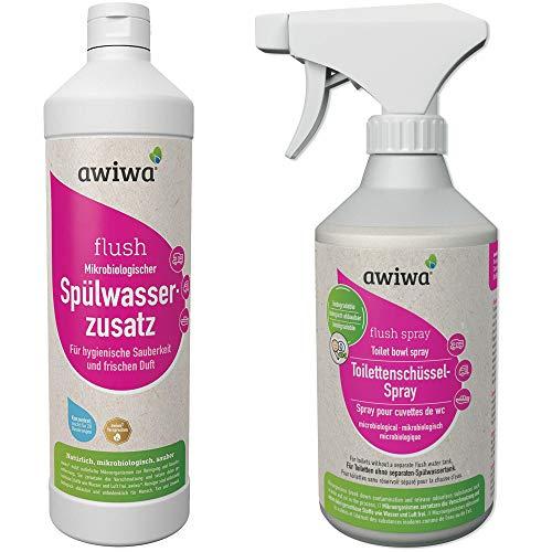 awiwa Flush Spray für die Camping Toilette - 500 ml Sanitärreiniger & Sanitärflüssigkeit für Campingtoilette in Caravan, Wohnwagen & Boot