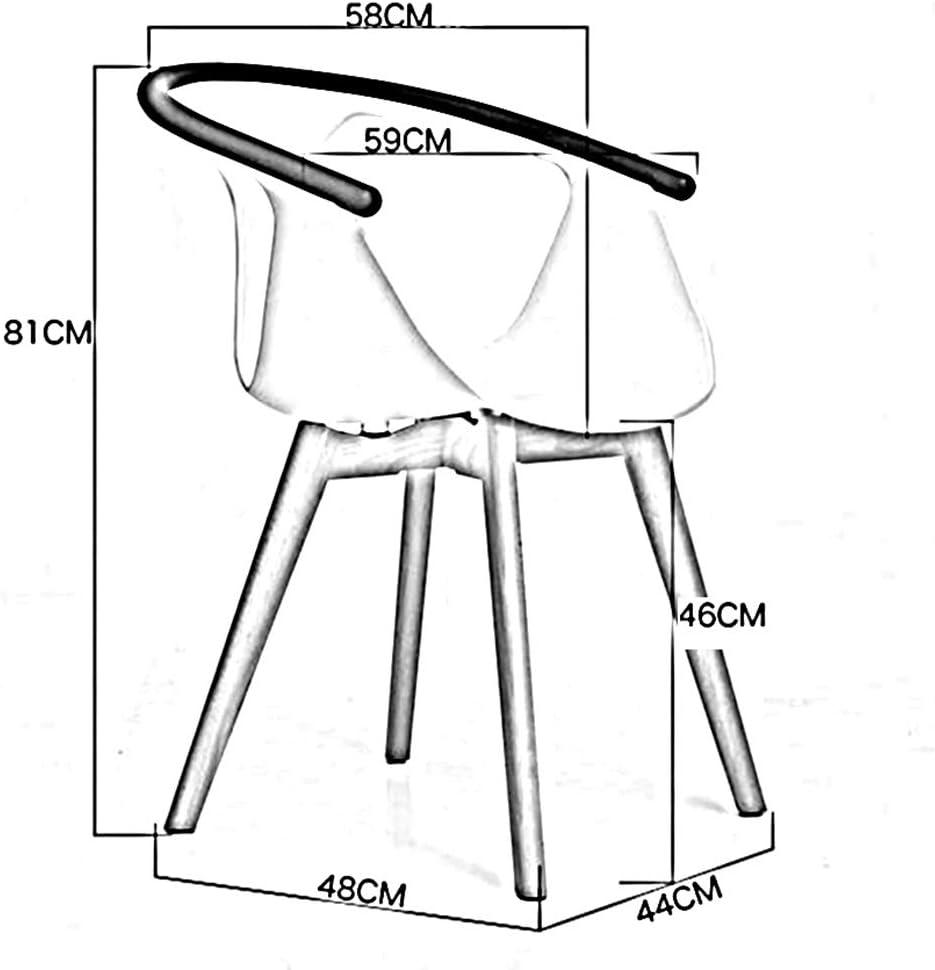 Dall Chaises Chaise De Salle À Manger Siège en Plastique Jambes en Bois Massif Chaise De Loisirs (Couleur : Blanc) Brown