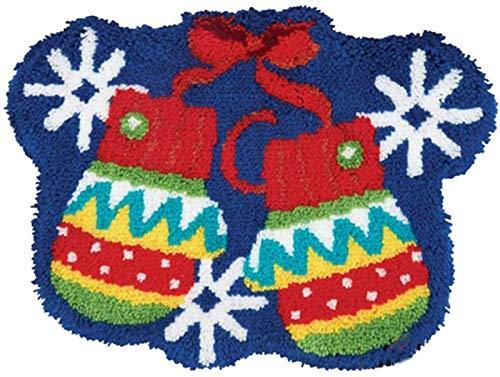 LGWG DIY Herramientas de ganchillo alfombra para hacer alfombra, DIY Navidad lienzo DIY DIY DIY guante decoración aguja para el hogar bordado manualidades