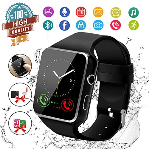 Smartwatch Android,Bluetooth Smart Watch Orologio Smartwatch Fotocamera Orologio Telefono con Sim Card Slot Sport Orologio Intelligente Android Smartwatch Uomo Donna Bambini Android iOS Smartphones
