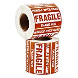 9527 Product 2'' x 3'' Fragile Stickers with Care Warning - Shipping Labels Stickers,500 Labels/Roll (2 Rolls)