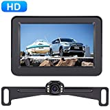 AMTIFO A2 HD 720 Backup Camera with 4.3 Inch Monitor for Cars,Trucks,SUVs,Vans Licence Plate Rear View Hitch Camera,Easy Installation High-Speed Observation System