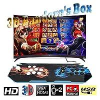 Hcchzr. Pandora's Box 3Dホームアーケードゲームコンソール4000レトロなHDゲームフルHD 1280x720pビデオ、2人のプレーヤーゲームコントロール、サポートマルチプレイヤー、HDMI/VGA/USB/AUXオーディオ出力