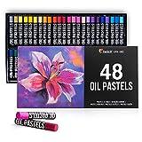 Zenacolor - Maletin de 48 Pasteles al Óleo - Tizas de Cera con Colores Intensos y Resistentes al Agua - Pasteles Suaves sin Residuos - Caja Colores Pastel para Artistas y Profesionales