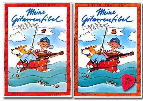 Meine Gitarrenfibel Band 1 und 2 - Lehrbuch für Akustische Gitarre mit Noten, Plek - 9783931788704, 9783931788711