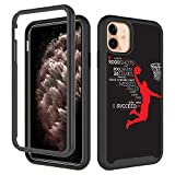 GUGU6JI iPhone 11 Case, Basketball for Boy Men Design Dual Layer Shockproof Rugged Cover Soft TPU + Hard PC Bumper Full-Body Protective Case for iPhone 11 (6.1 inch) 2019 - Dunk Basketball