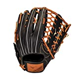 Mizuno GSN1250 Select 9 Outfield Baseball Glove 12.5' , Right Hand Throw, BLACK-BROWN