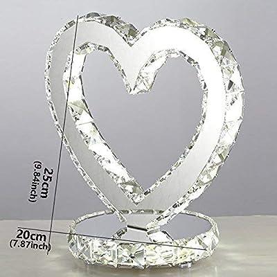 Lámpara de Mesa LED de Cristal Dormitorio Mesita de luz decoración de Cristal lámpara de Mesa Moderna de la Manera Simple de la Boda de iluminación
