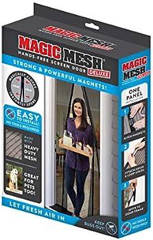 Magic Mesh Deluxe Magnetic Hands Free Screen Door Cover