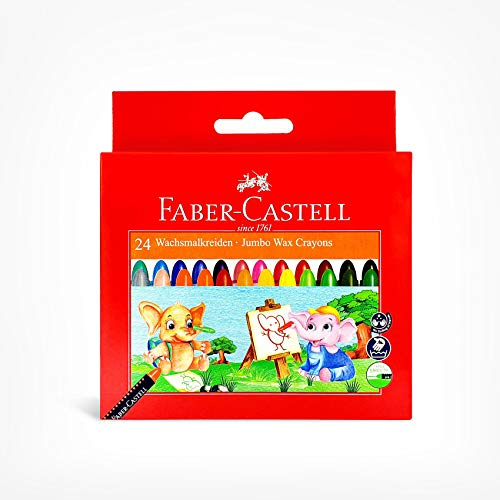 Faber Castell Jumbo Wax Crayons - 24 Shades
