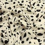 Stoff Polyester Plüsch Dalmatiner schwarz weiß weiss