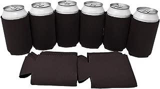 TahoeBay 12 Neoprene Can Sleeves for Standard 12 Ounce Cans Blank Beer Coolers (Black, 12)