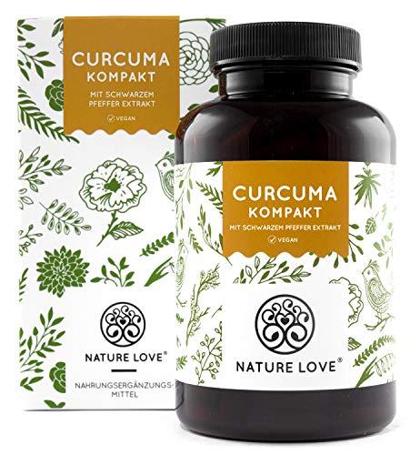 Curcuma Extrakt - Curcumin Gehalt EINER Kapsel entspricht dem von ca. 15.000mg Kurkuma - Hochdosiert mit 95{3c1c33c62207525d9a7817c829c032e516b16c6f1e90e2b86722191055dc9e74} Extrakt - Jede Charge laborgeprüft, vegan, hergestellt in Deutschland