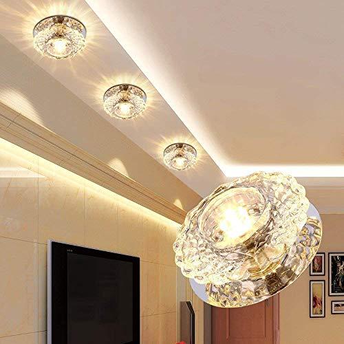 LED Decken Leuchte Kristall Glas Lampe Beleuchtung Wandleuchte Deckenlampe (Warmweiß)