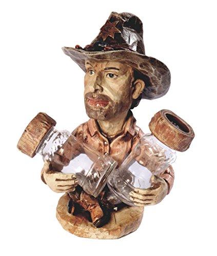 Sal de pimentero de cowboy Western 20cm Mesa decorativa Decorar Western Country, salero pimentero
