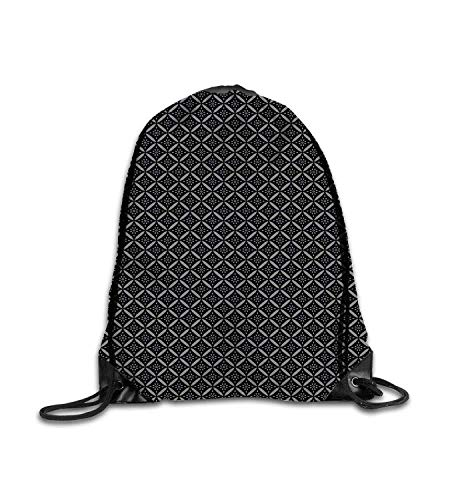 huatongxin Customized backpack Victorian Royal Floral Tile Composition Nature Inspired Antique Design Style Black Grey Fitness beam backpack, sports backpack, school bag