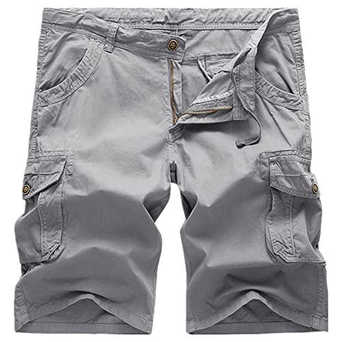 N\P Pantalones cortos sueltos de gran tamaño para hombre