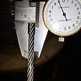 JAP768 (PVC) de 5 mm, 10 M, 7X19 304 Alambre de Acero Inoxidable de la Cuerda con Revestimiento de PVC más Suave Pesca Recubierto de Cuerda de Cable de tracción Tendedero (tamaño : 5mm 10M)
