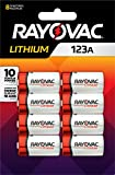 Rayovac 123A Lithium Batteries, 3V Lithium Photo Batteries (8 Battery Count)