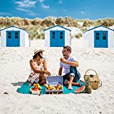 polaar Picknickdecke, Outdoor und Wanderdecke, Ultraleicht, Wasserdicht, für bis zu 4 Personen, mit Heringen - Ideal für den Park, Reise und Camping