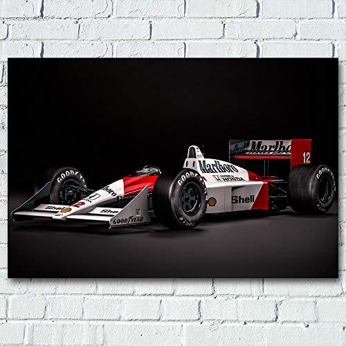 Mclaren Honda Classic Formel 1 F1 Sportwagen Wandkunst Poster Leinwanddrucke Seidenmalereien Für Wohnzimmer Dekor 32X48inch ohne Rahmen