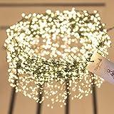 FAIRYTREES Micro LED Lichterkette für Weihnachtsbaum PREMIUM, FairySparks 1000 LEDs, Farbtemperatur 2700K (warmweiß), grüner Kupferdraht 20m (IP44), FS1000