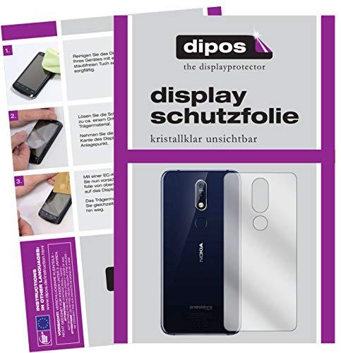 dipos I 6X Pellicola Protettiva Compatibile con Nokia 7.1 Plus Posteriore Pellicola di Protezione Cristallo