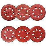 60Pcs Sanding Discs 5 Inch 8 Holes, 1000/800/600/400/320/240 Grit Sandpaper for Random Orbital Sander