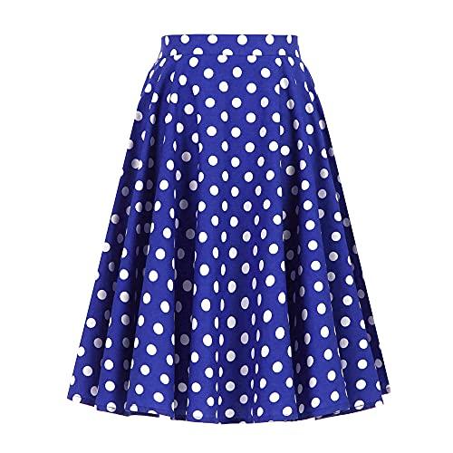 Spódnice Dla Kobiet Kwiatowa Spódnica W Stylu Vintage, Duże Rozmiary, Damska, Wiśniowa, W Kropki Spódnice Z Wysokim Stanem-As_Shown_1_Xxl