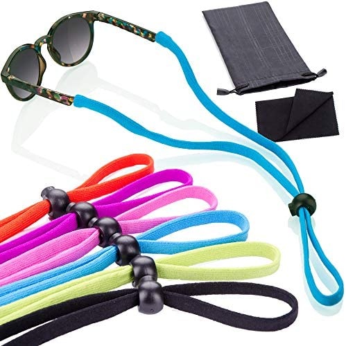 6 Pack Sunglass Glasses Straps Adjustable and Stretchy Universal Fit for Kids to Adult Sunglasses product image
