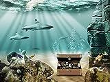 wandmotiv24 Fototapete Unterwasserschatz Größe: 350 x 260 cm Wandbild, Motivtapete, Vlietapete...