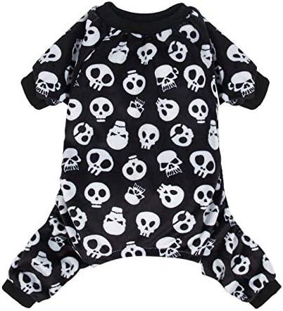 CuteBone Halloween Dog Pajamas Costumes Pet Clothes Cat Apparel Shirt Winter Holiday Cute Pjs Bodysuit for Doggie Onesies