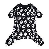 CuteBone Halloween Dog Jumpsuit Skull Shirt Pet Pajamas Bodysuit for Large Doggie Onesies P11L