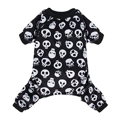 CuteBone Halloween Dog Pajamas Costume Skull Shirt Jumpsuit Pet Bodysuit for Large Doggie Onesies P11L