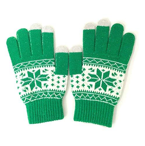 Winterwolf Touchscreen Gloves for Smartphones & Tablets (Green)
