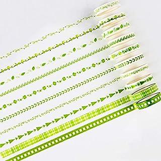 JUHONNZ Washi Tape,10 Pack Adhésif Papier Ruba de Ruban de Masquage Masking Tape Scrapbook Bandes de Papier Adhésif pour S...